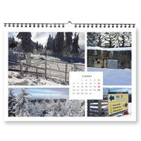 Fotokalendář A4 na šířku koláž