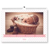 Fotokalendář A3 na šířku baby girl