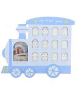 Dřevěný dětský fotorámeček na více foto modrý GEDEON Sp. z o. o.
