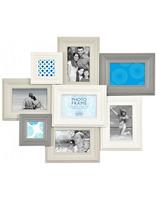 Šedobílý retro fotorámeček na více foto Innova Editions Ltd