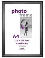Plastový fotorámeček CERTIFICATE A4(21x29,7) černý plexi Innova Editions Ltd