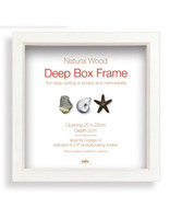 Hluboký dřevěný fotorámeček Box 30x30 bílá Innova Editions Ltd