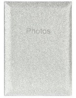 Svatební fotoalbum 10x15/300 Glitter stříbrný Innova Editions Ltd