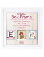 Čtvercový fotorámeček 30x30cm SHADOW BF bílý Innova Editions Ltd