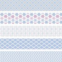 Dekorativní washi páska samolepicí, sada mini modrá 1,2cmx3m (5ks)