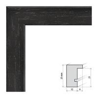Dřevěný fotorám 30x40 černý
