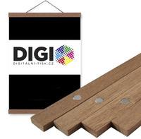 Magnetický dřevěný teak ám na plakát 40 cm