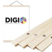 Magnetický dřevěný nature rám na plakát 30 cm